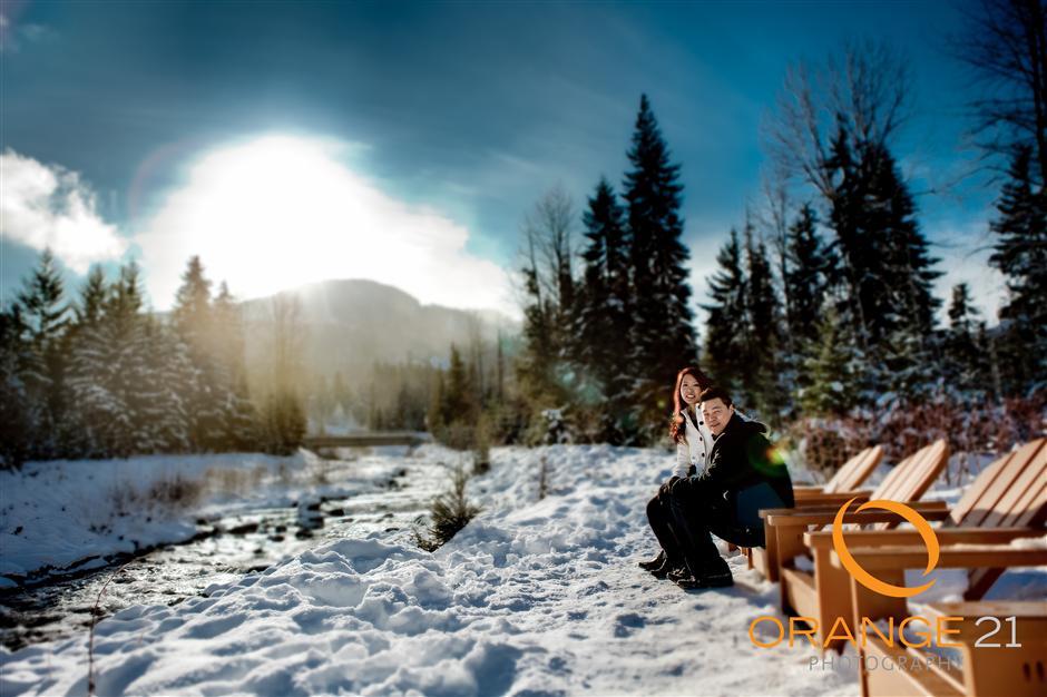 Paulina & Roger's Test Engagement shoot in Whistler