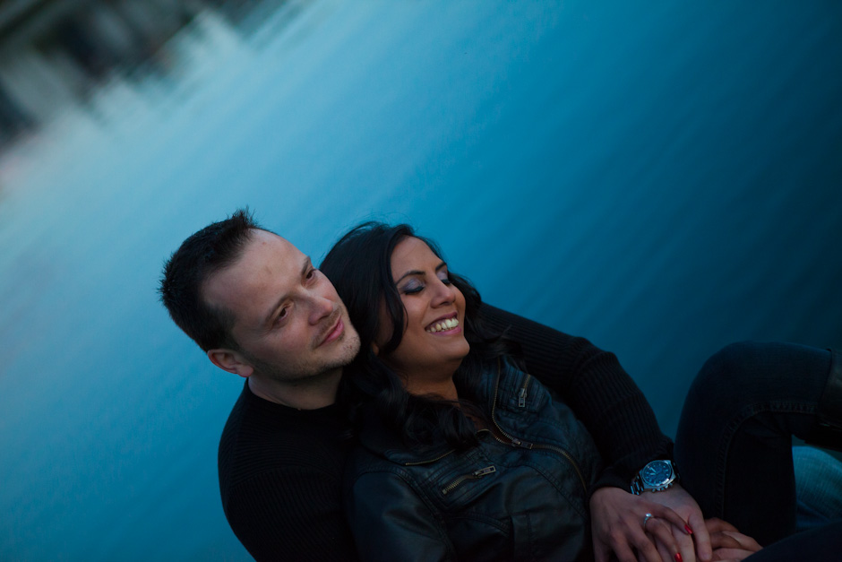 Sharon and Loris – Granville Island Olympic Village Engagement Photo Shoot